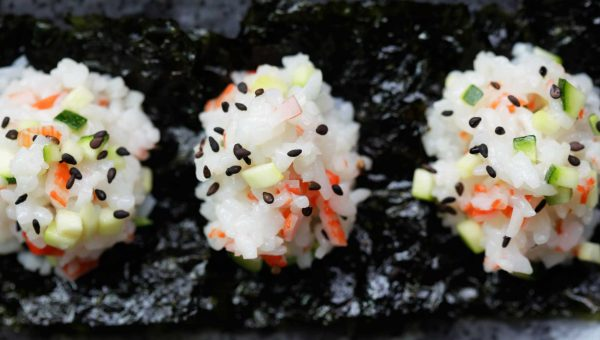 Annie Chun's Crab and Cucumber Sushi Rice Balls