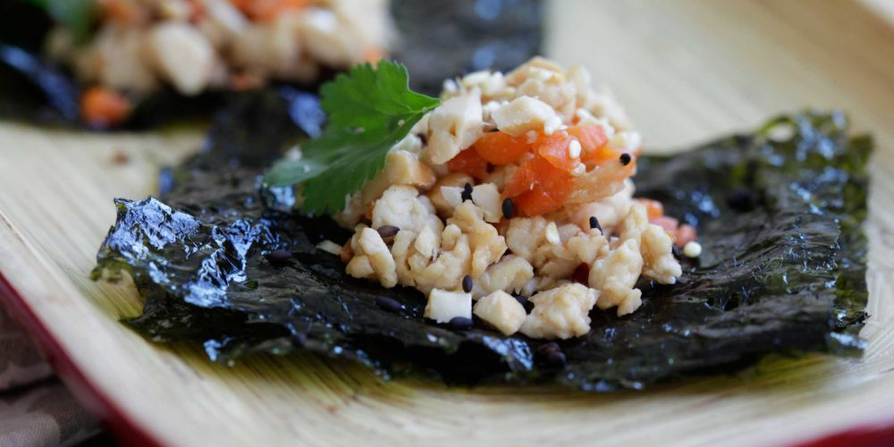 Annie Chun's Ground Chicken, Cashew, and Seaweed Snack Wrap