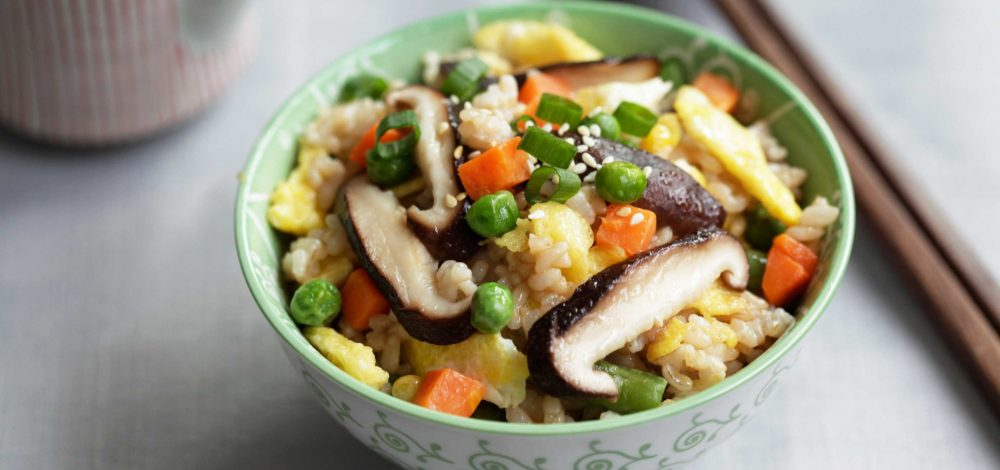 Shiitake Mushroom and Vegetable Fried Brown Rice