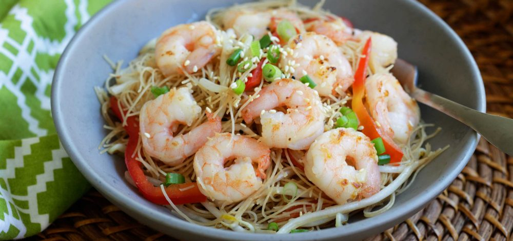 Teriyaki Shrimp Noodles