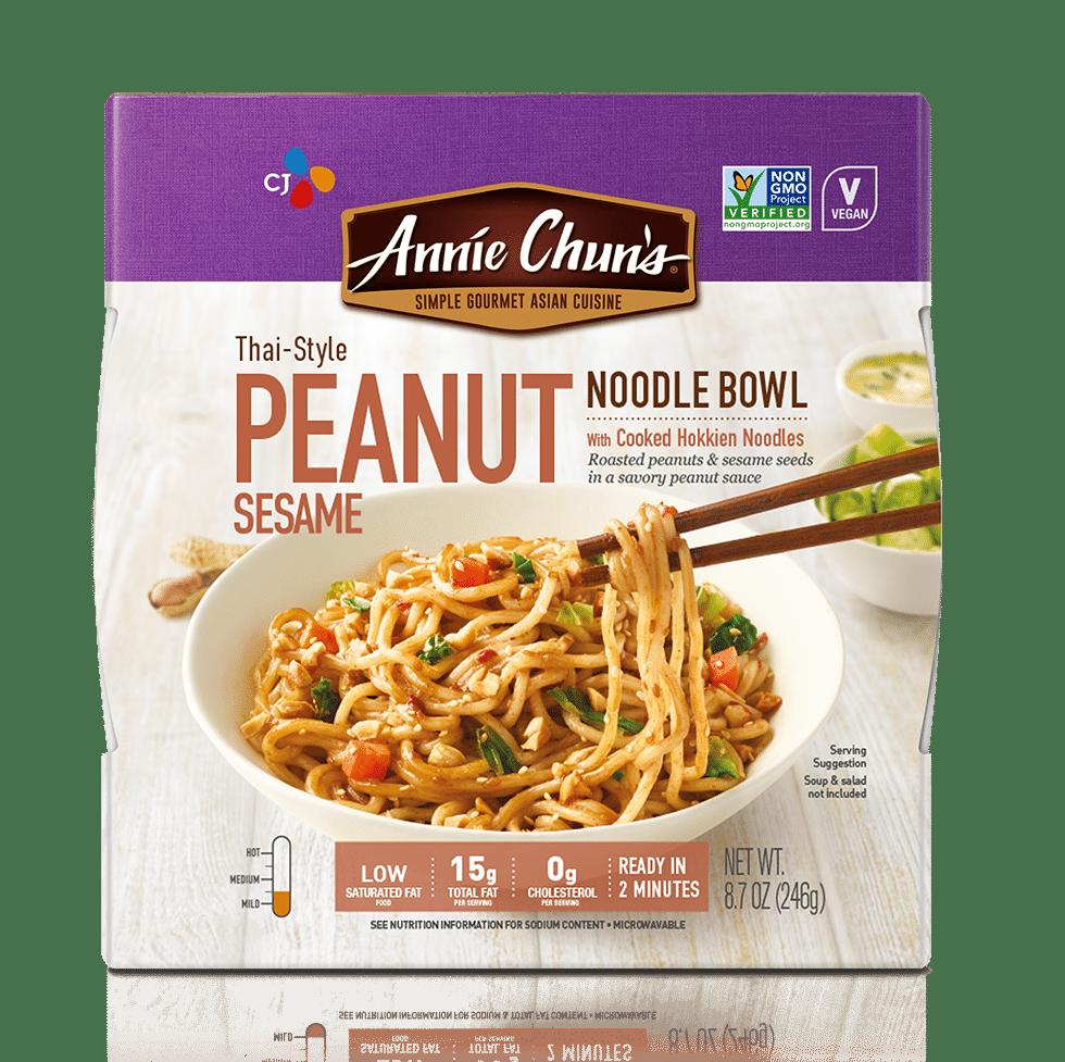Thai-Style Peanut Sesame Noodle Bowl