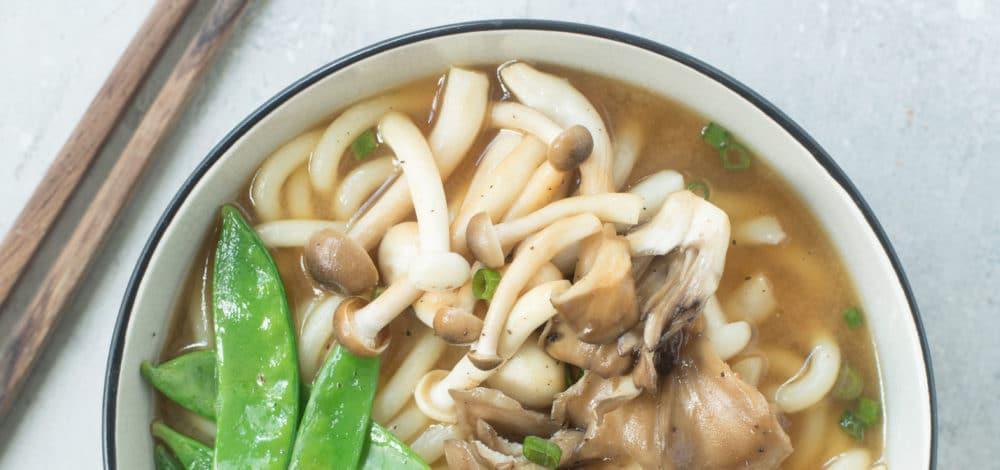 Sesame Soy Mushroom Miso Soup Bowl