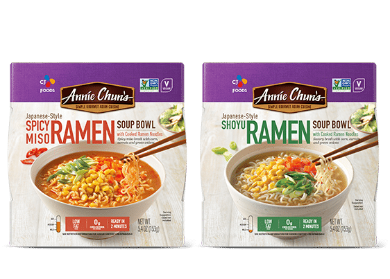 Annie Chun's Spicy Miso Ramen and Shoyu Ramen