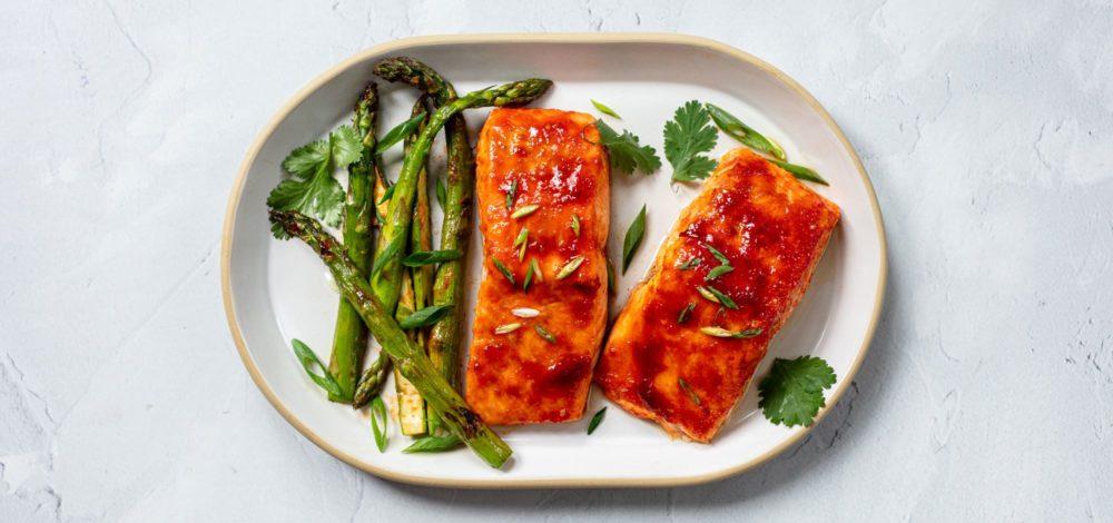 Go-Chu-Jang Glazed Salmon with Asparagus