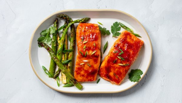 Go-Chu-Jang Glazed Salmon with Asparagus