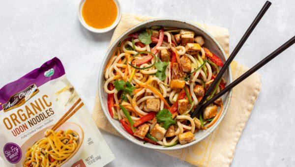 Rainbow Udon Noodle Salad