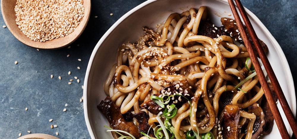 Seitan Garlic Noodles