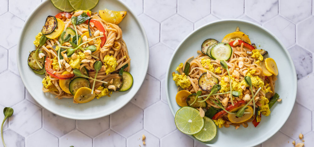 Vegan Summer Squash Pad Thai