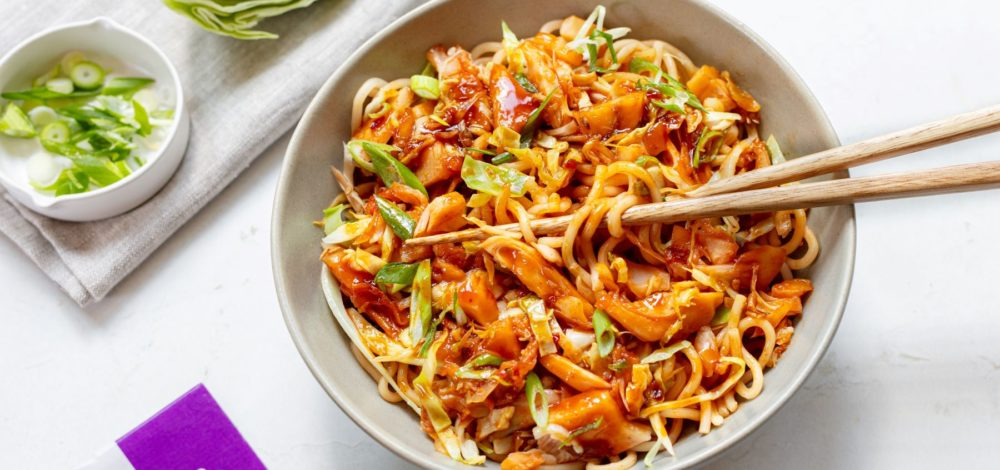 Sweet Chili Teriyaki Jackfruit Stir-Fry
