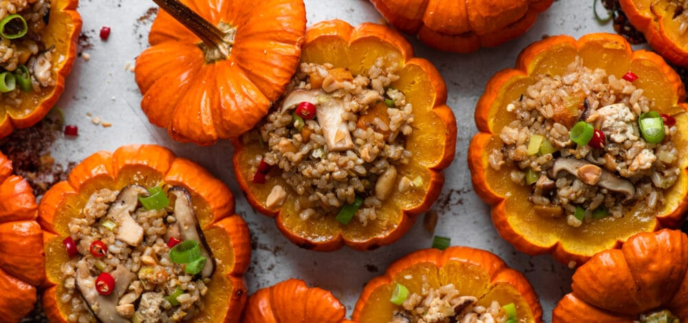 Fried Rice Stuffed Pumpkins