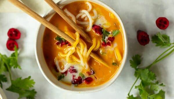 Butternut Squash Coconut Noodle Soup