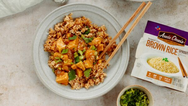 Vegan Orange Chicken With Fried Rice