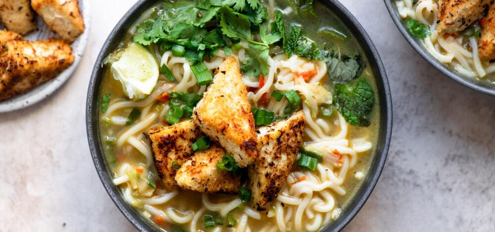 Coconut Tofu Noodle Soup