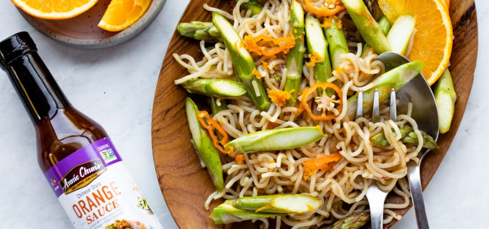 Orange Asparagus Noodle Stir-Fry