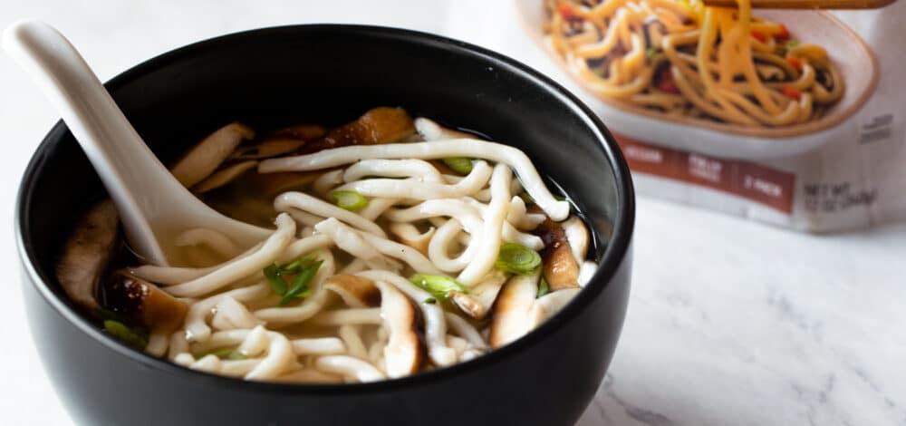 Udon Noodles with Shiitake Mushroom Broth