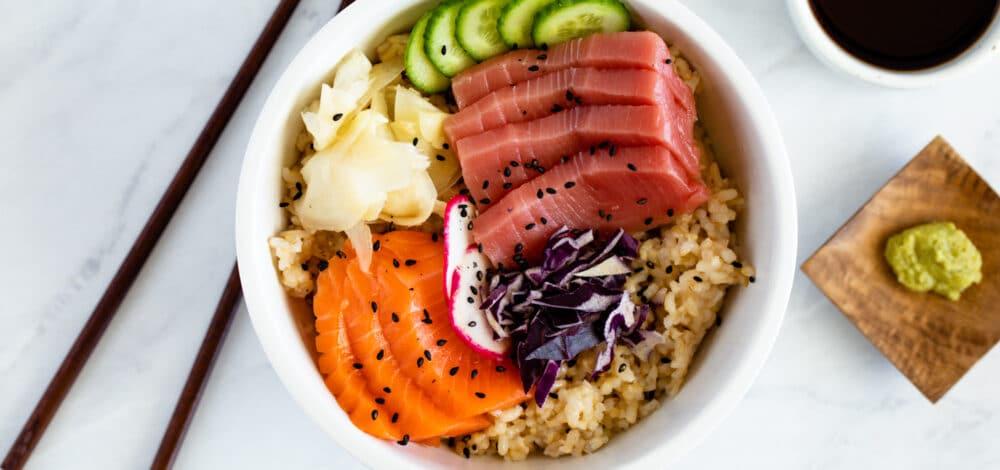 Brown Rice Chirashi Bowl