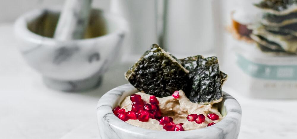Baba Ganoush with Seaweed Crackers