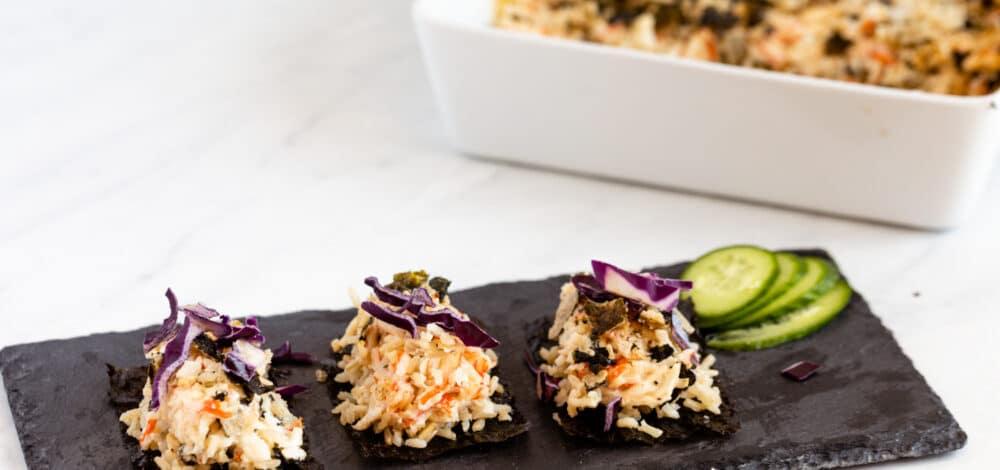 Brown Rice Sushi Bake