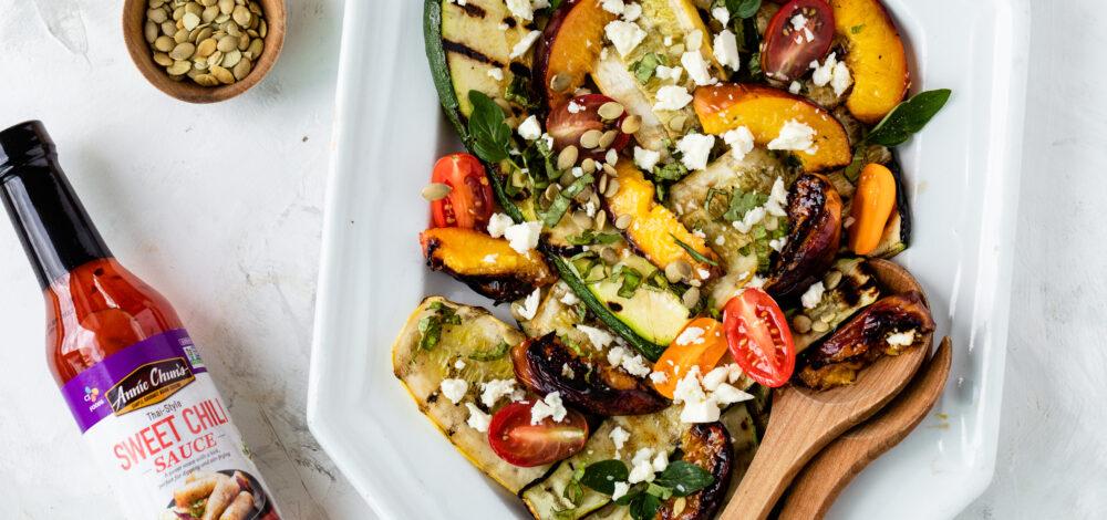 Grilled Zucchini and Nectarine Salad